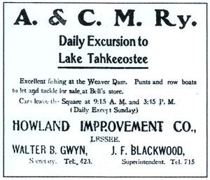 lake advertisement