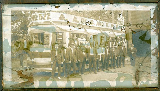 Craggy Mtn. Crew framed image, 1957
