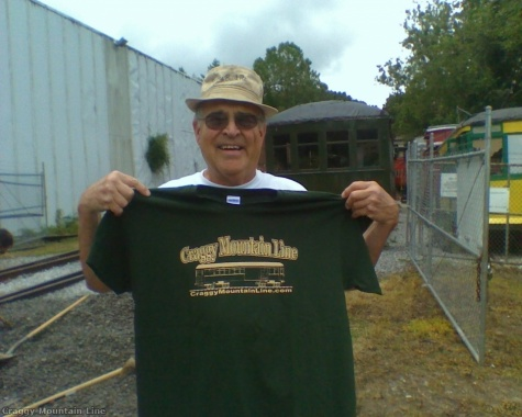 Ed Clinger with his new CML shirt