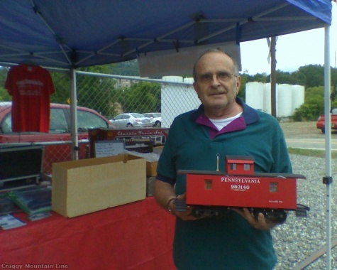 We would like to thank Bob Scott for his generous donation of the Pennsylvania caboose model.