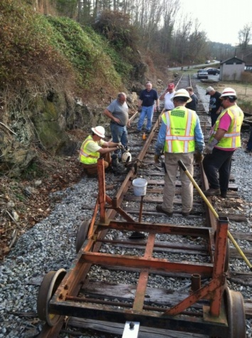 As the sun is beginning to set we are finishing the last piece of rail-15.jpg